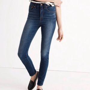 Madewell Rivet & Thread extra high rise skinny jea